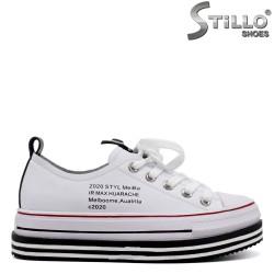 Pantofi dama de culoare alb si cu talpa dreapta - 34743