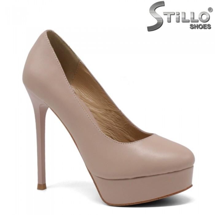 33,34,35 Pantofi dama de culoare bej cu platforma si toc - 34755