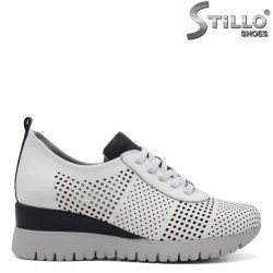 Pantofi dama sport perforati si cu platforma - 34759