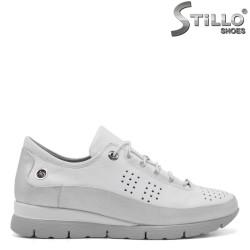 Pantofi dama sport din piele naturala e culoare alb - 34765
