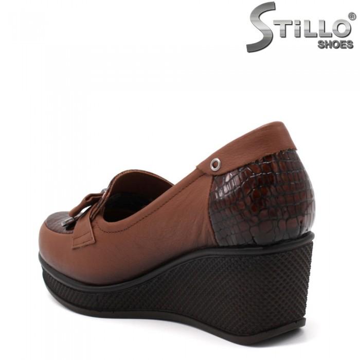Pantofi dama de culoare maron cu platforma - 34768