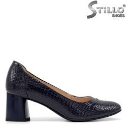 Pantofi dama cu toc mijlociu si imprimanta croco - 34786