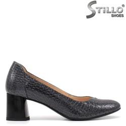 Pantofi dama cu toc mijlociu cu stampa tip sarpe - 34791