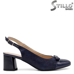 Pantofi dama partea din spate decupata si  de culoare albastru - 34792