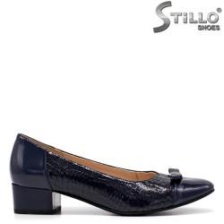 Pantofi dama de culoare albastru si cu toc jos - 34795