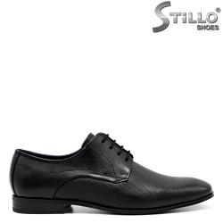 Pantofi barbati model Bugatti сu sireturi de culoare negru - 34799