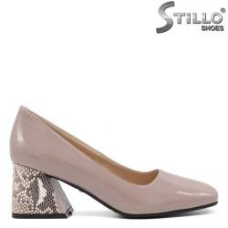 Pantofi dama eleganti cu toc mijlociu si cu toc  cu imprimanta tip sarpe - 34802