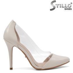 Pantofi dama moderni cu toc inalt si cu silicon - 34804