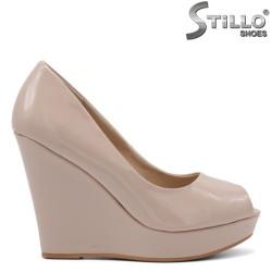 Pantofi dama cu platforma inalta si partea din fata decupata - 34806