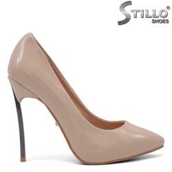 Pantofi dama eleganti din lac si cu toc metalic - 34809