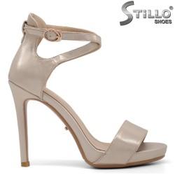 Sandale dama cu toc de culoare auriu - 34817