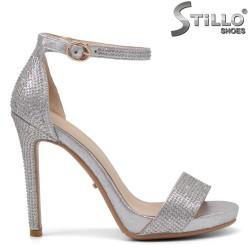 Sandale dama cu pietricele si cu toc inalt - 34818