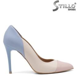 Pantofi dama color cu toc inalt subtire - 34830