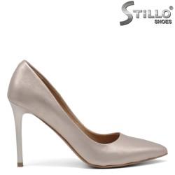 Pantofi dama aurii din piele naturala - 34831