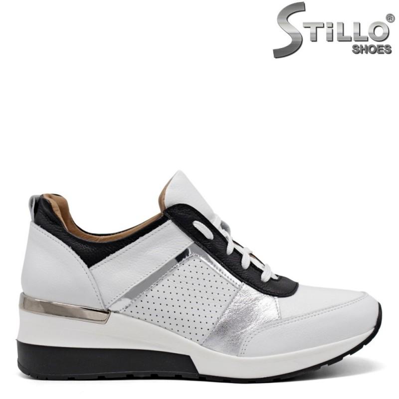 Pantofi dama sport de culoare alb si negru - 34838