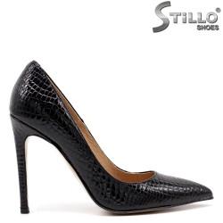 Pantofi dama moderni din lac croco - 34839