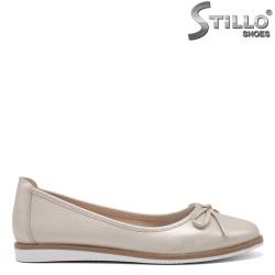 Pantofi dama aurii si cu funda - 34847