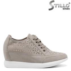 Pantofi dama perforati si cu platforma - 34850