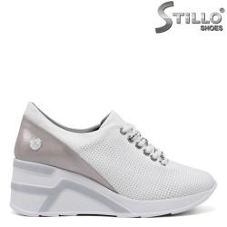 Pantofi dama sport perforati si cu platforma - 34853