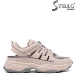 Pantofi dama sport de culoare roz de vara - 34854