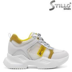 Sneakers de culoare alb si cu plasa - 34855