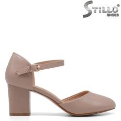 Pantofi dama cu partea din fata si spate acoperita - 34589