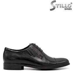 Pantofi barbati din piele naturala de culoare negru - 34868