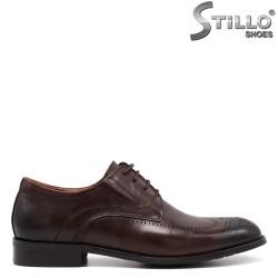 Pantofi barbati din piele de culoare maron - 34874