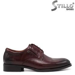 Pantofi barbati din piele naturala de culoare bordeux - 34877