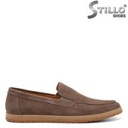 Pantofi barbati model italian tip mocasini din velur - 34878