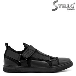 Pantofi barbati sport din piele si textil - 34879