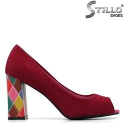 Pantofi dama ciclam si cu partea din fata decupata - 34884