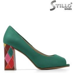 Pantofi dama moderni cu toc inalt de culoare menta - 34886