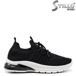 Pantofi dama sport din textil de culoare negru - 34888