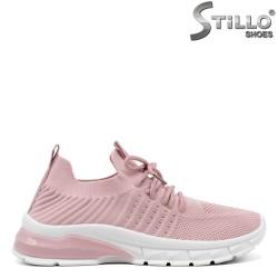 Pantofi dama sport de culoare roz cu talpa sport - 34889
