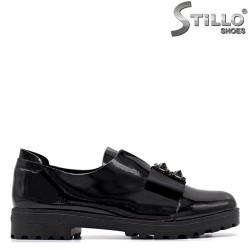 Pantofi dama din lac si cu funda - 34895