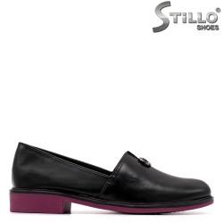 Pantofi dama de culoare negru si mov cu toc jos - 34899