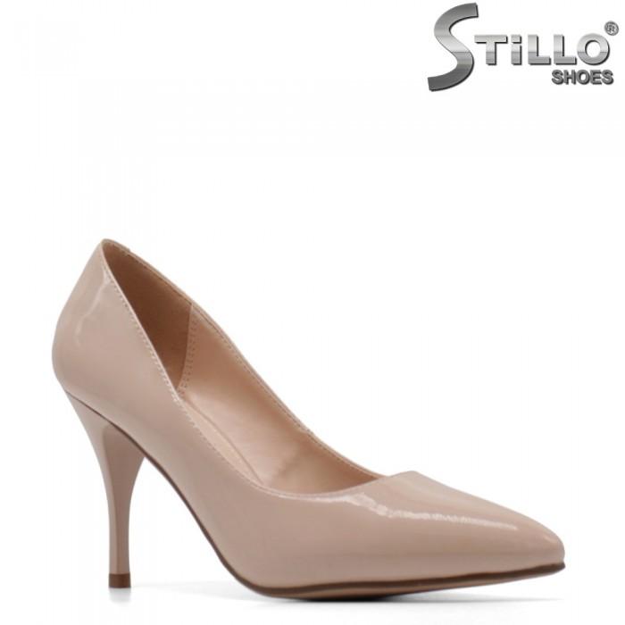Marimi mici 33,34,35 pantofi dama de culoare bej cu toc subtire - 34900