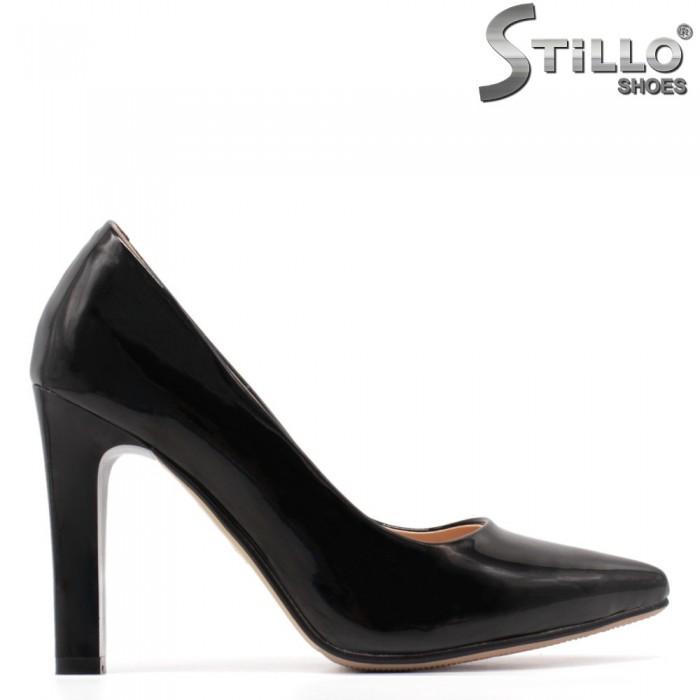 33,34,35 Pantofi dama de culoare negru cu toc - 34904