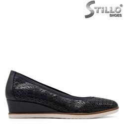 Tamaris pantofi dama cu toc olandez si cu perforatie - 34909
