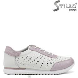 Pantofi dama sport de culoare alb si roz - 34915
