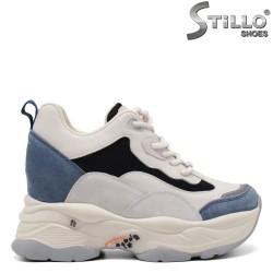 Snickers dama de culoare alb albastru si negru - 34924