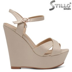 Sandale dama aurii cu platforma  - 34930