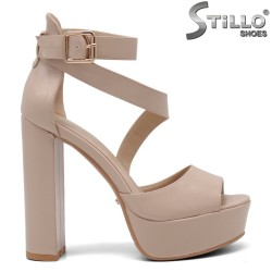 33,34,35 Sandale dama cu toc inalt si cu platforma - 34935