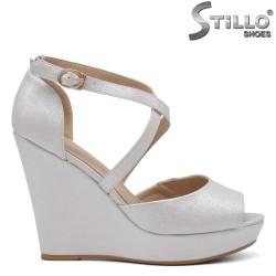 Sandale dama din sidef cu platforma - 34942