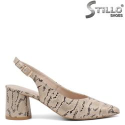Pantofi dama din piele naturala  cu imprimanta tip sarpe - 34947