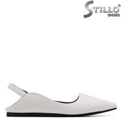 Pantofi dama de culoare alb din piele naturala - 34977