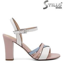 Sandale dama elegante de culoare alb,roz si albastru - 34980