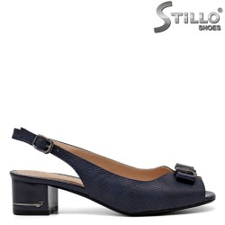 Sandale dama de culoare albastru inchis si partea din spate si fata decupata - 34983