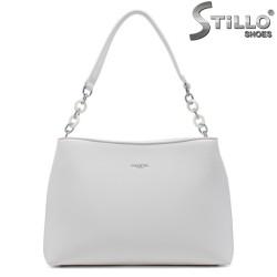 Geanta dama de culoare alb cu lantisor - 34632